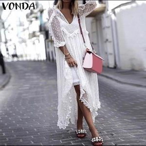 Vonda Long Sleeve Transparent Outwear With Lining